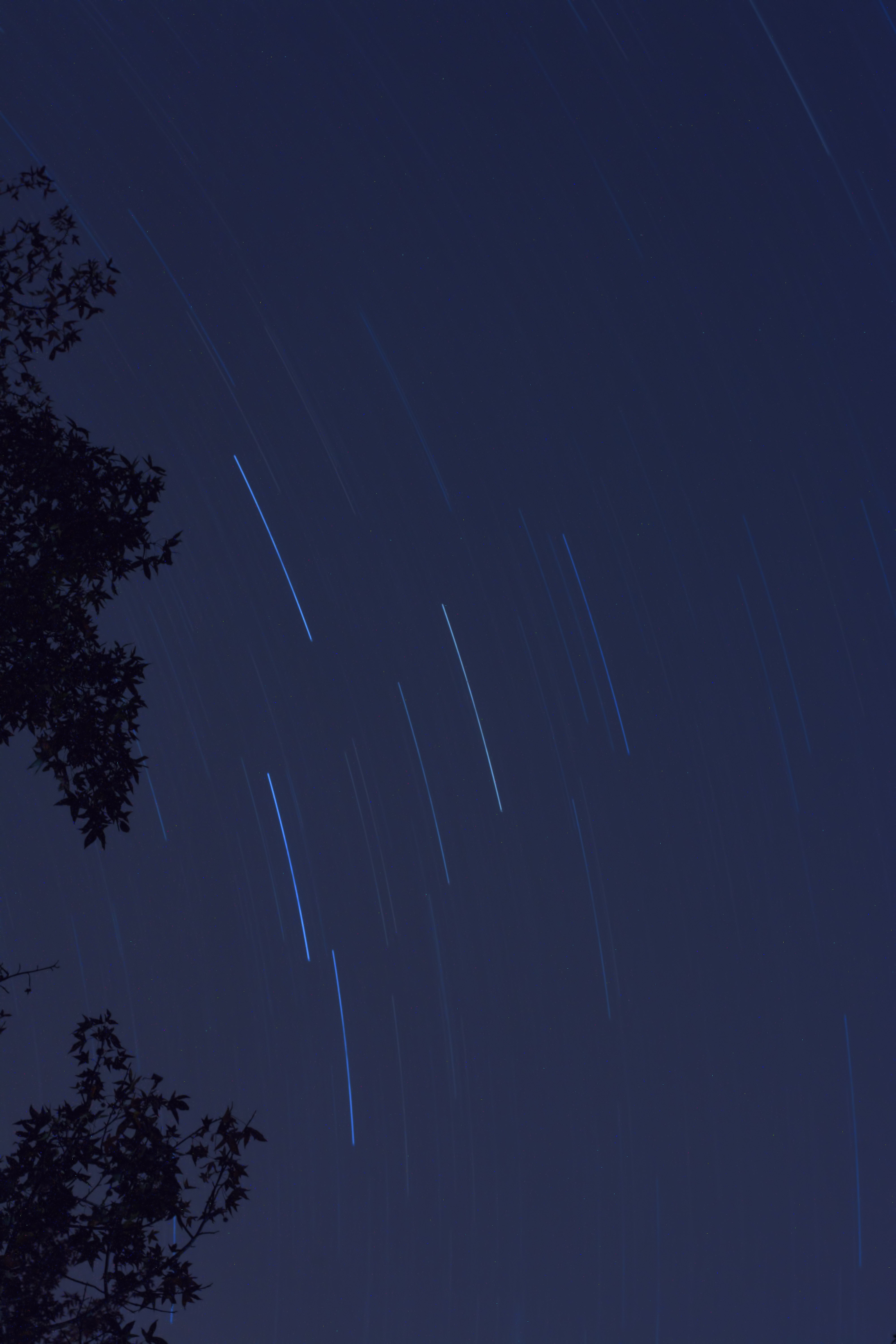 A first attempt at star trails