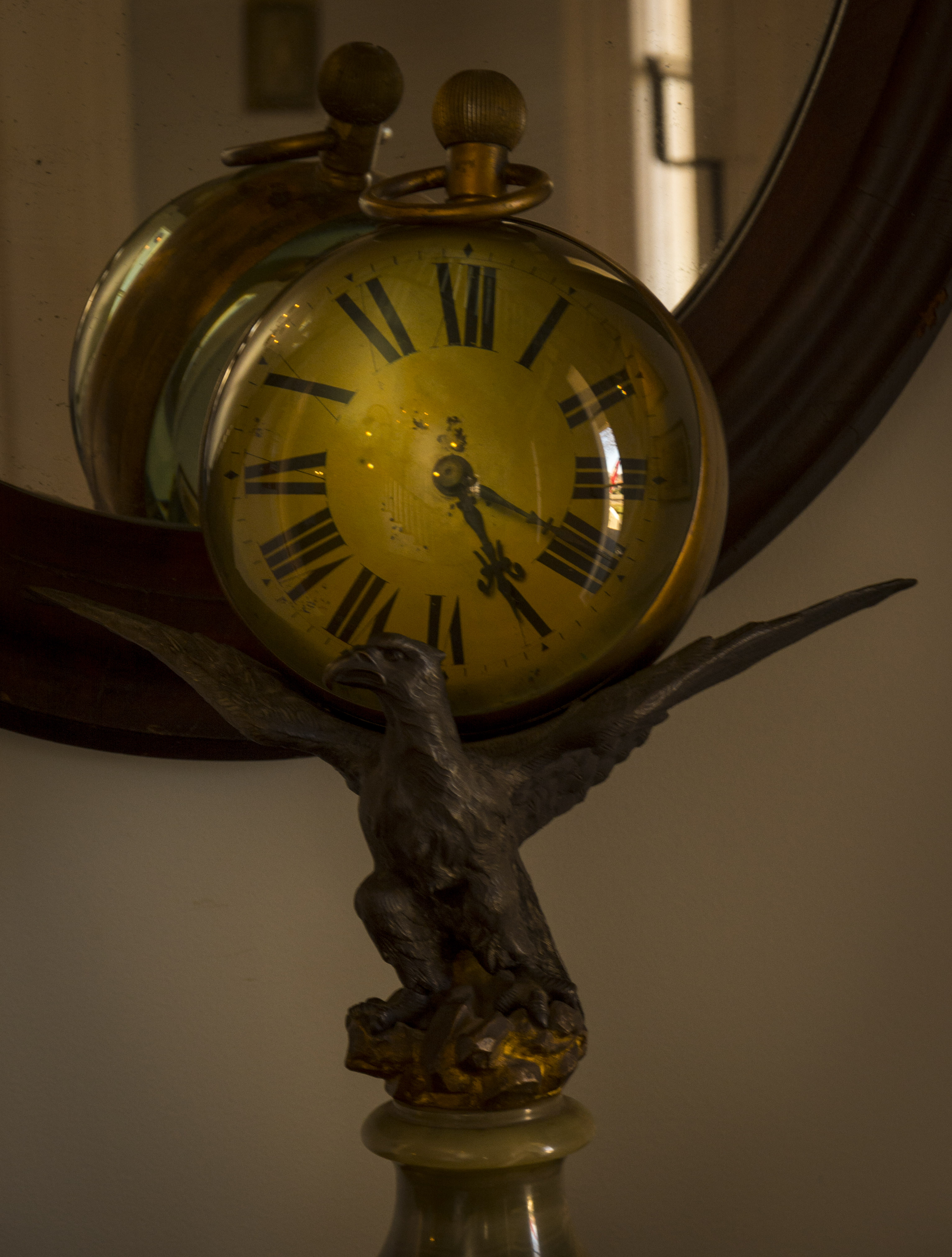 The antique clock ...