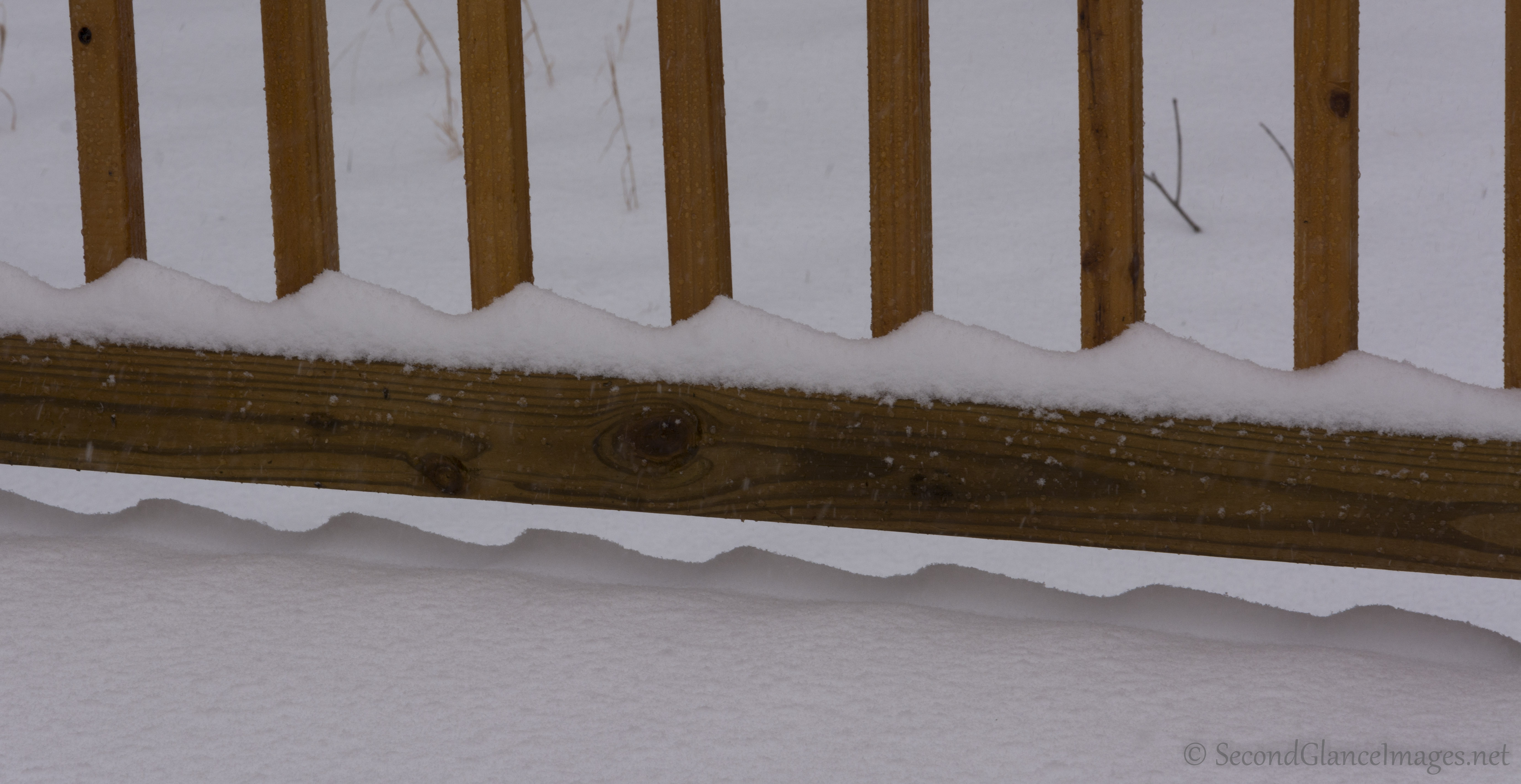 Saw tooth snow drifts ...