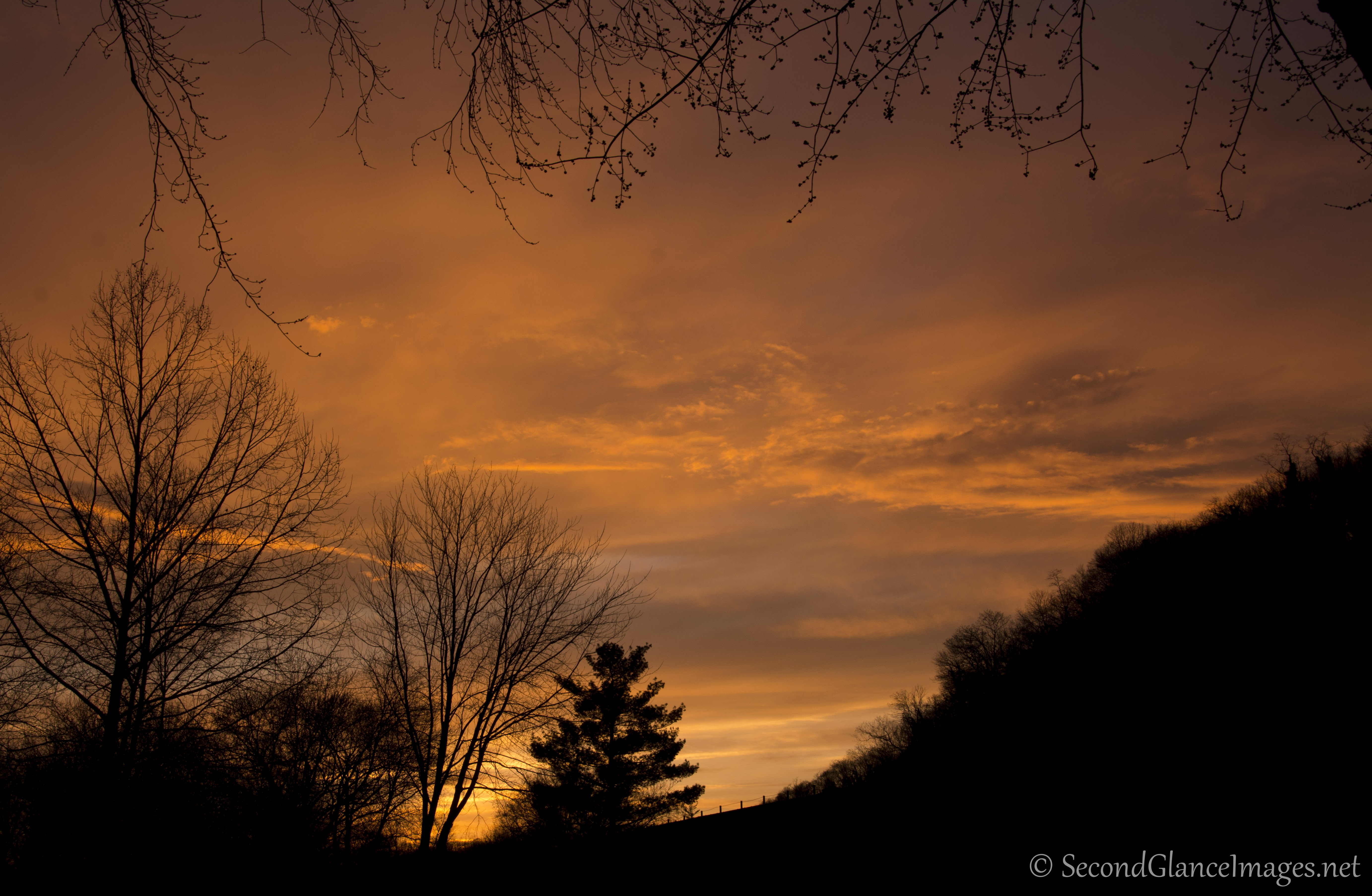 Sunset over Harpers Ferry ...
