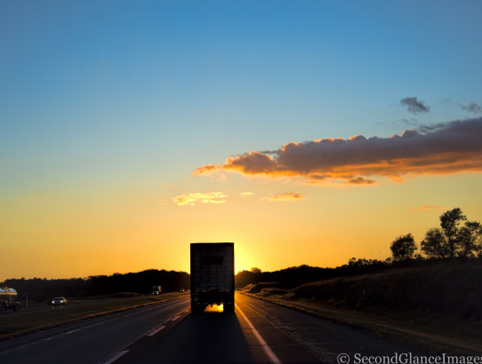 Sunset from the road ...